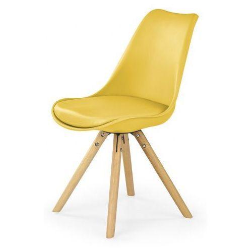Krzesło skandynawskie Depare - żółte, V-CH-K/201-KR-ŻÓŁTE