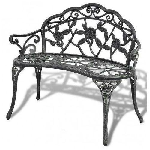 Metalowa ławka ogrodowa loryn - zielona marki Producent: elior