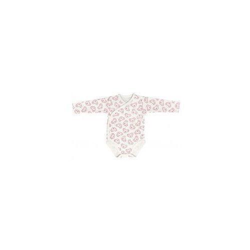 Niemowlęce body KOPERTOWE długi rękaw koala różowy, kolor różowy