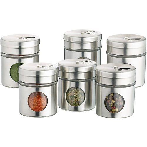 Pojemniki na przyprawy Kitchen Craft 6 sztuk (KCSPJARSET)