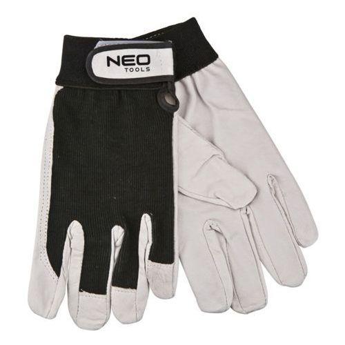Neo  97-604 rękawice robocze, skóra świńska licowa, z rzepem, 8