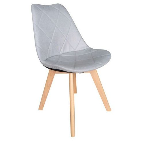 Krzesło tapicerowane karo wood light grey marki Exitodesign