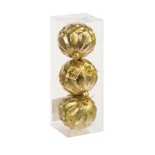 Bombki plastikowe 8 cm 3 szt. złote (3276000456810)