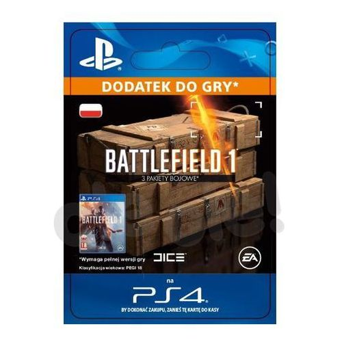 Battlefield 1 - 3 Pakiety Bojowe [kod aktywacyjny] (0000006200184)