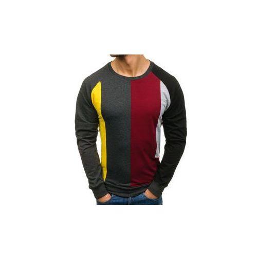 Athletic Bluza męska bez nadruku grafitowa denley 0751