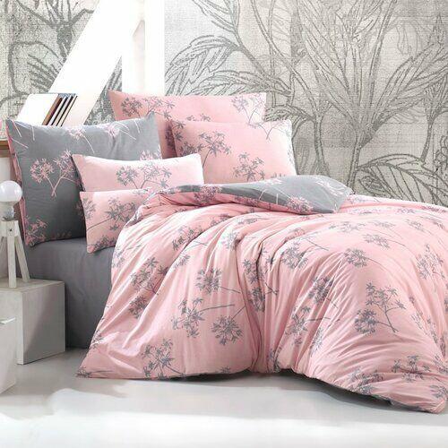 pościel idil 220x200/2x70x90 cm, różowy marki Bedtex
