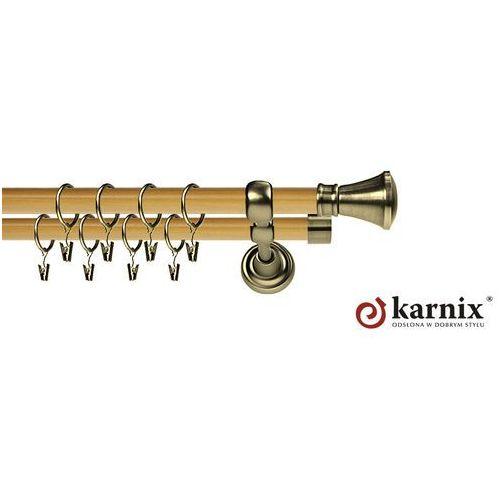 Karnisz metalowy prestige podwójny 25/25mm liberty antyk mosiądz - pinia wyprodukowany przez Karnix