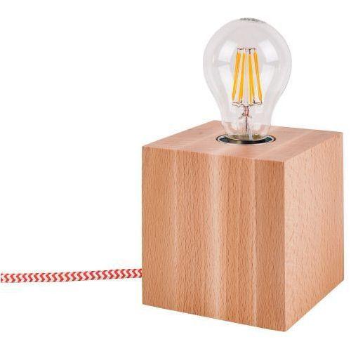 Lampa stołowa spotlight trongo 7171531 buk-czerwono-biały + darmowy transport! marki Spot light
