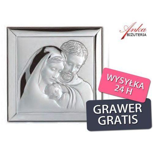Święta Rodzina obrazek srebrny Wyjątkowo piękny na prezent GRAWER. Najniższe ceny, najlepsze promocje w sklepach, opinie.