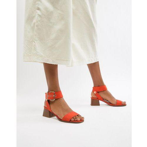 River Island block heeled sandals in orange - Orange, kolor pomarańczowy