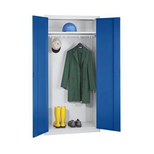 Szafa z drzwiami skrzydłowymi, 1 półka na kapelusze, 1 drążek na ubrania, jasnos