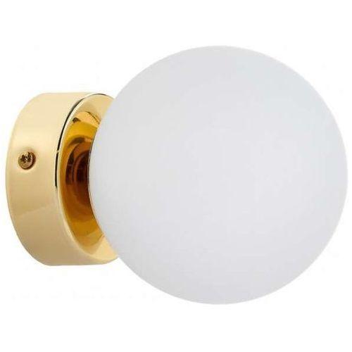 Kinkiet LAMPA ścienna ASTRA 20773105 Kaspa kulista OPRAWA szklana kula ball złota biała, 20773105