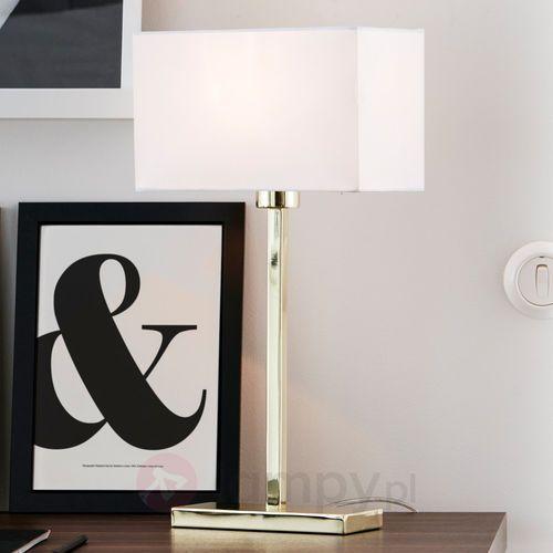 Lampa stołowa SAVOY Złoty/biały 106306 - Markslojd - Mega rabat w koszyku (7330024558182)
