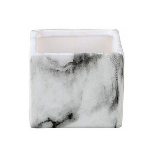 Osłonka na doniczkę 7 cm ceramiczna MARMUR