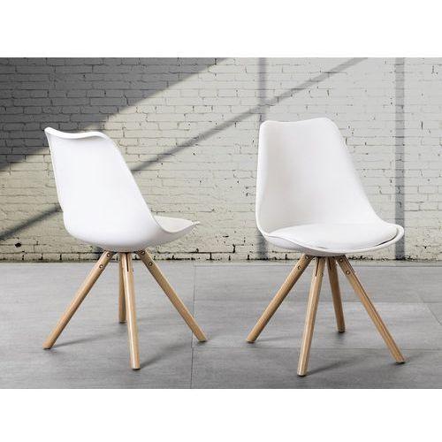 Krzesło do jadalni białe DAKOTA