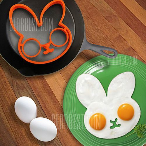 Lovely egg shaper silicone ring moulds creativity health frying cooking eggs interesting kitchen gadgets wyprodukowany przez Gearbest