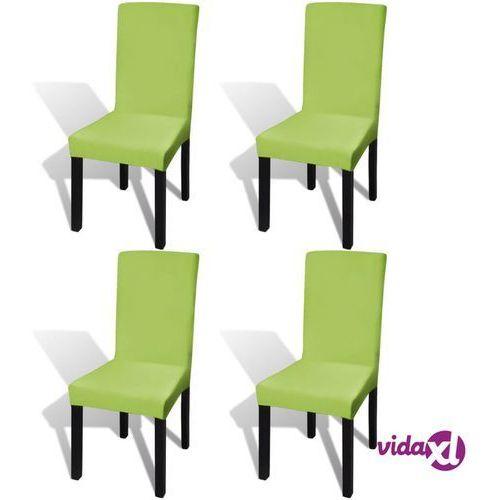 Vidaxl elastyczne pokrowce na krzesła zielone 4 szt. (8718475978817)