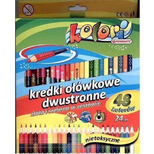 Kredki Premium Kolori 24 szt-48 kolorów PENMATE (5906910818870)