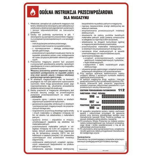 Ogólna instrukcja przeciwpożarowa dla magazynu marki Top design