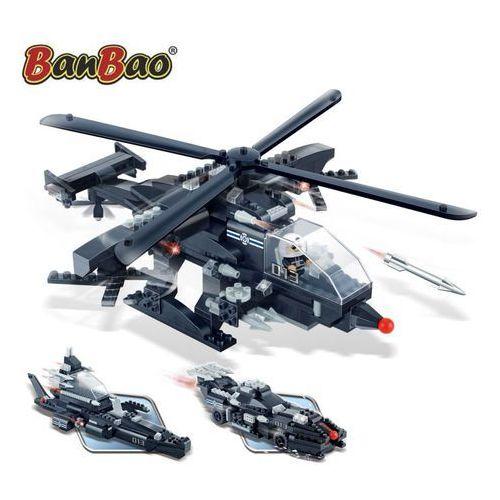 Banbao wojskowy helikopter 3 w 1, zestaw klocków, 8488