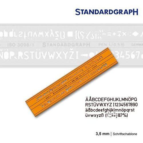 Szablon literowy h-profil prosty 3,5mm x1 marki Szablony techniczne