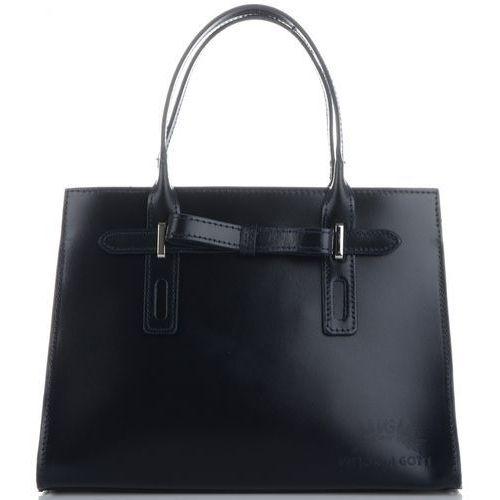 2ced6fb51f9a0 klasyczne firmowe torebki kuferki skórzane z gustowną kokardką granatowe  (kolory) marki Vittoria gotti