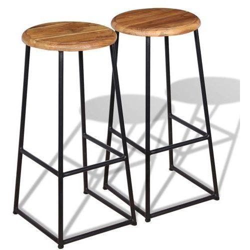 Vidaxl stołki barowe 2 sztuki, drewno tekowe (8718475524113)