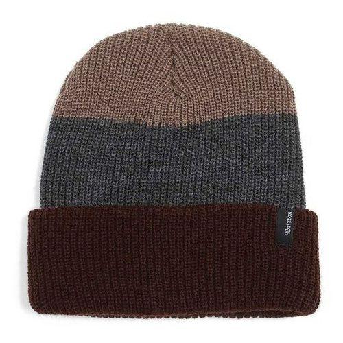 Brixton Czapka zimowa  - heist three stripe brown/charcoal (0449) rozmiar: os