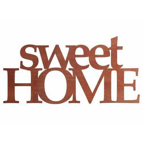 Dekoracja drewniana napis na ścianę Sweet Home - 4 mm