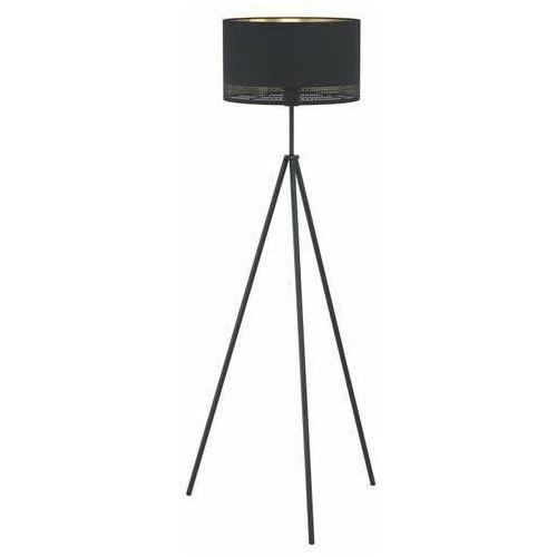 Eglo Esteperra 99279 lampa stojąca podłogowa 1x40W E27 czarna/złota, kolor Czarny