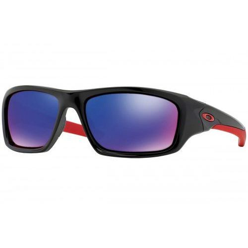Okulary Oakley VALVE Polished Black Red Iridium OO9236-02, kolor czerwony