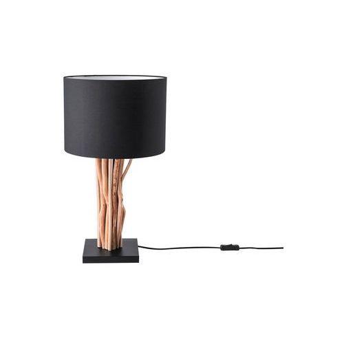 Beliani Lampa stołowa czarna 63 cm aparima