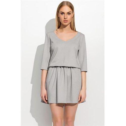 Sukienka Model M309 Grey Melange, kolor szary