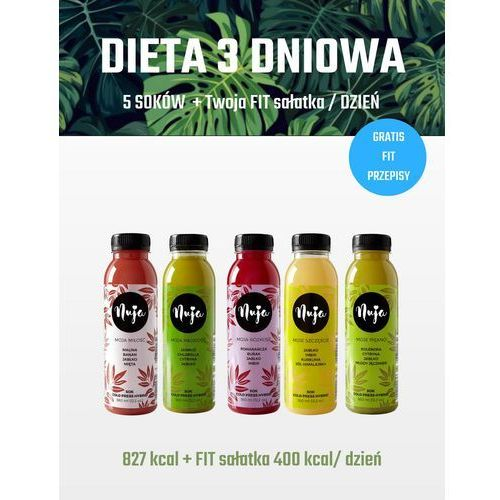 Nuja Dieta oczyszczająca 3 dniowa / dieta sokowa / detoks sokowy (5905669102919)