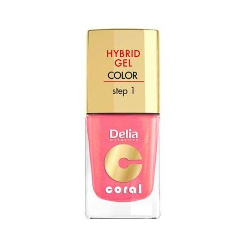 DELIA Hybrid Gel Step 1 16 Ciepły średni róż Żelowy lakier do paznokci