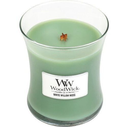 Woodwick Świeca core white willow moss średnia