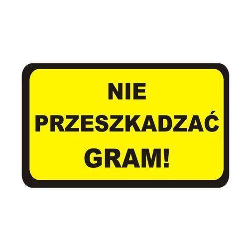 Splendid Naklejka nie przeszkadzać gram (5907599744016)