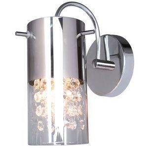 Kinkiet LAMPA ścienna MARQU MBM1636/1A Italux kryształowa OPRAWA tuba crystal chrom przezroczysta