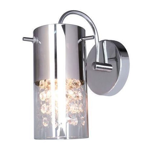 Kinkiet LAMPA ścienna MARQU MBM1636/1A Italux kryształowa OPRAWA tuba crystal chrom przezroczysta, MBM1636/1A