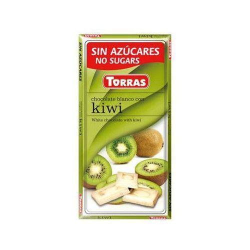 Czekolada biała z kiwi 75g -  marki Torras