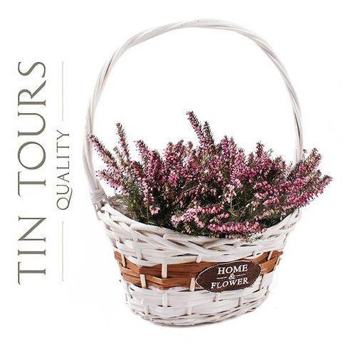 Tin tours sp.z o.o. Koszyk wiklinowy z uchwytem na kwiaty 32x23x14x17/41h cm