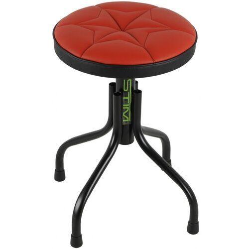 Stim st03c stołek uniwersalny, obrotowy, regulowana wysokość, obicie czerwone, taboret
