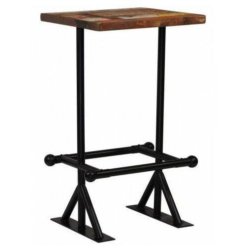 Kolorowy, drewniany stolik barowy – Sidden 2X