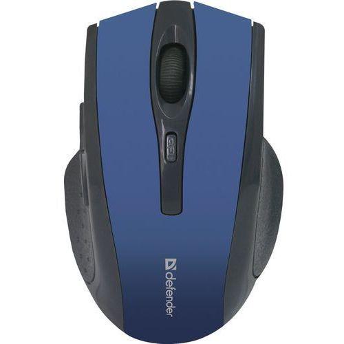 Mysz bezprzewodowa Defender ACCURA MM-665 optyczna 1600dpi 6P niebieska (4714033526678)