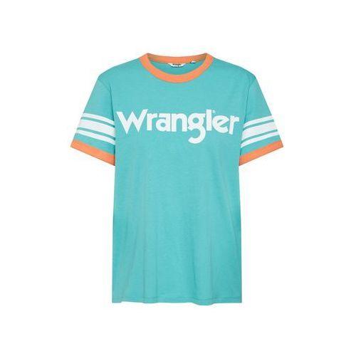 WRANGLER Koszulka 'Sporty Tee' turkusowy / jasnopomarańczowy (5400852626437)