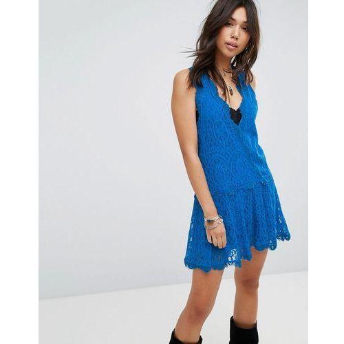 Free people heart in two mini dress - blue