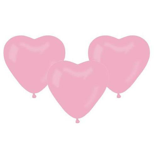Balony lateksowe Serca jasnoróżowe - 50 szt.