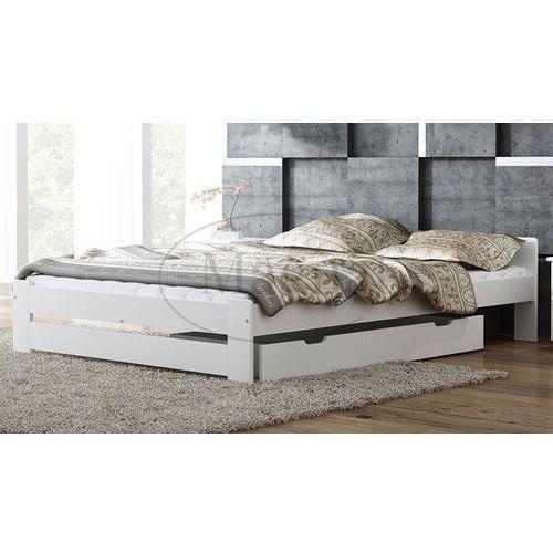 Łóżko drewniane niwa 140x200 białe marki Magnat - producent mebli drewnianych i materacy