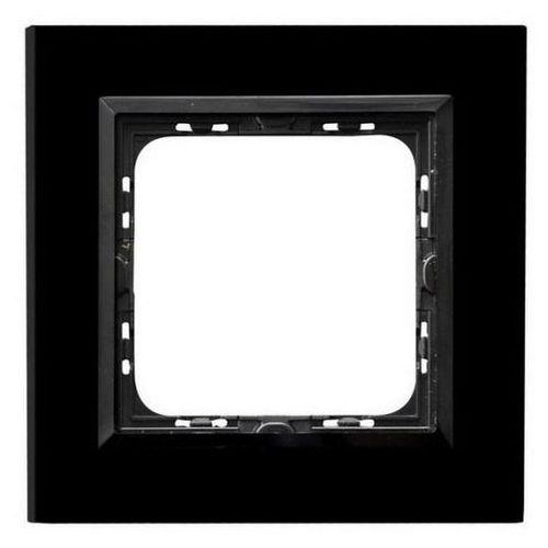 OSPEL SONATA R-1RGC/32/25 Ramka pojedyncza CZARNY Czarne szkło, grubość 4mm, R-1RGC/32/25