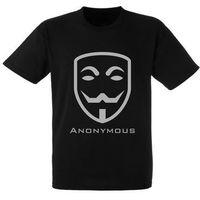 Koszulka Prezent Nadruk Anonymous Maska, kolor biały